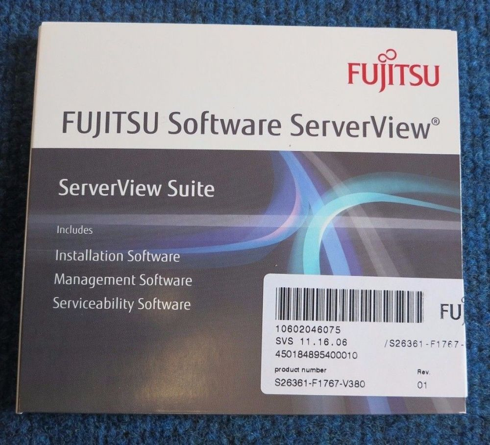 Fujitsu S26361-F1767-V380 New ServerView Suite DVD Management Serviceability